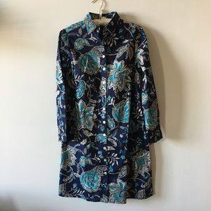 eShakti Cotton fitted shirt dress size 4 / small